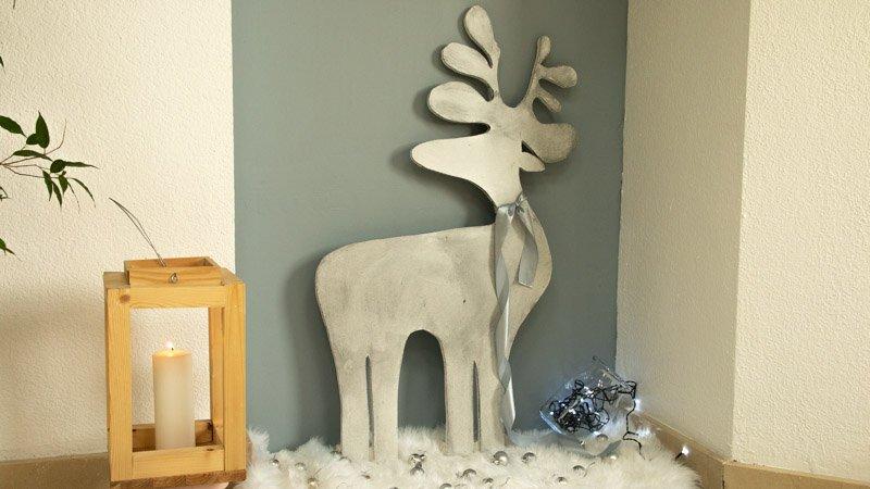 Cómo hacer un reno navideño con madera