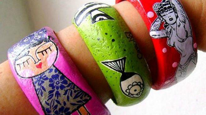 Cómo hacer pulseras con papel maché