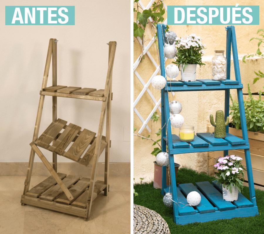 Antes y después de una estantería