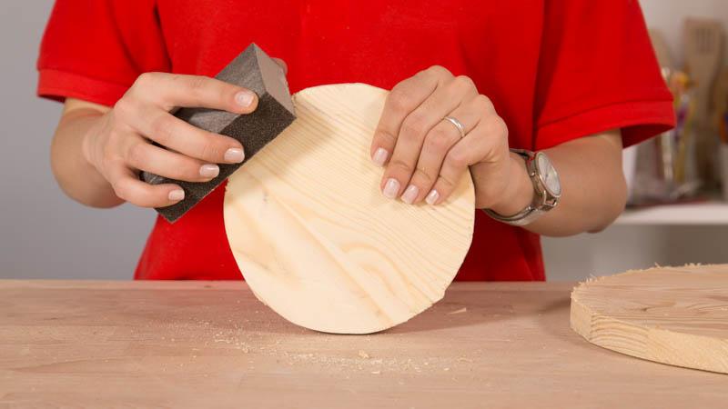 Lijar circunferencia de madera para la tabla para quesos