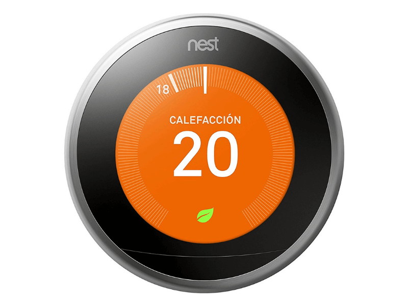 Termostato inteligente Nest para ahorrar energía en casa