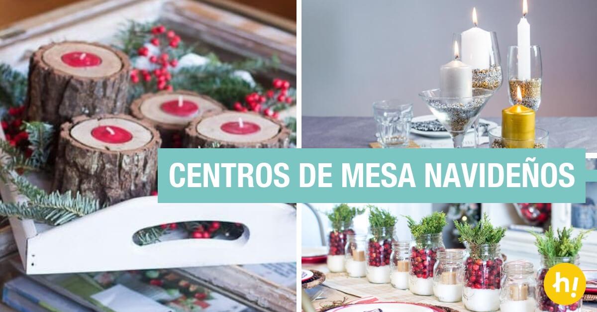 Centros de mesa navide os caseros 12 ideas f ciles y r pidas handfie - Centros de mesa caseros ...