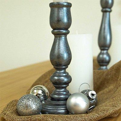 Decorar candelabros para Navidad