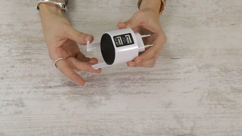 Soporte para el smartphone de adaptador USB