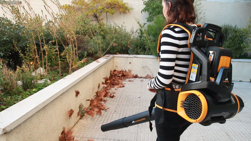 Soplador de aire con mochila