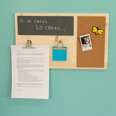 Cómo hacer un tablón de notas de madera