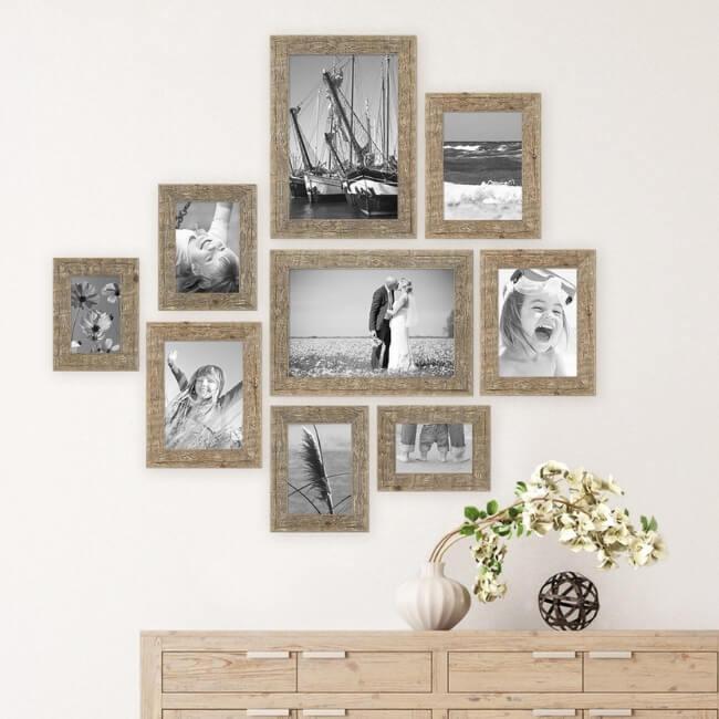 Conjunto de marcos para cuadros de madera