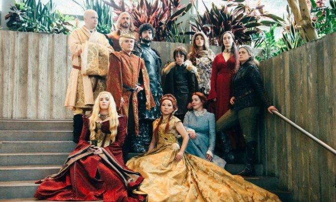 Disfraz grupal de Juego de Tronos.