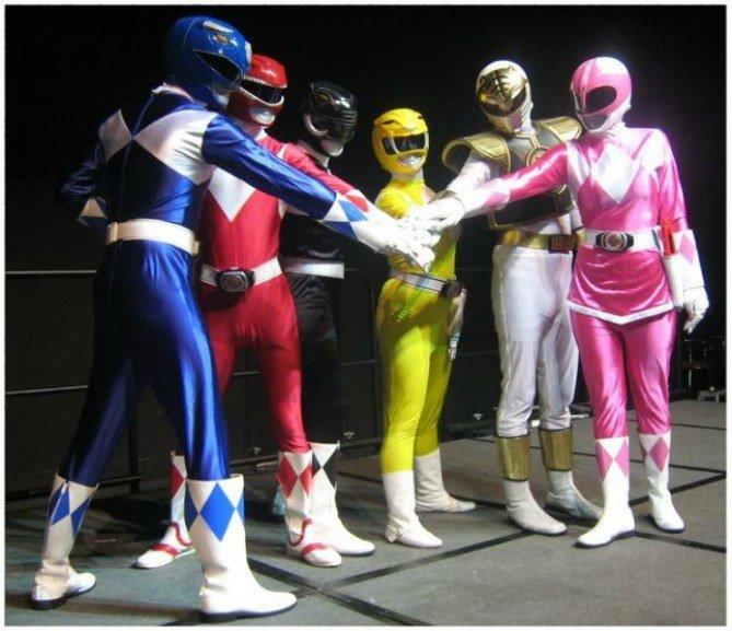Disfraz para grupo de Power Rangers