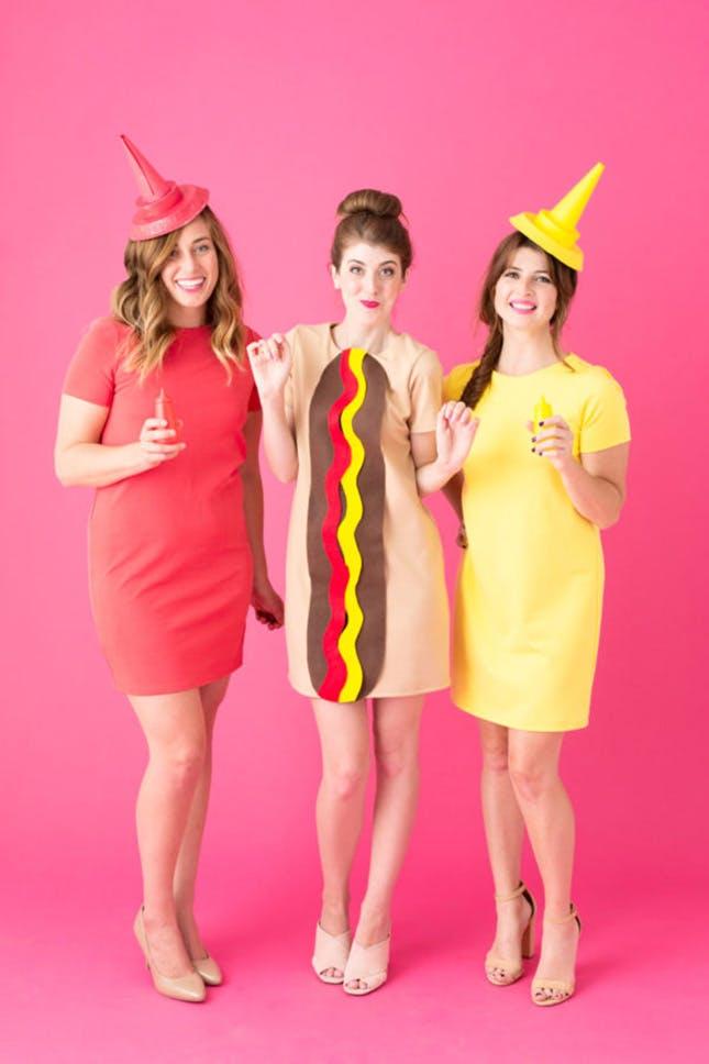 Disfraz de formación Hot Dog, o sandwich.