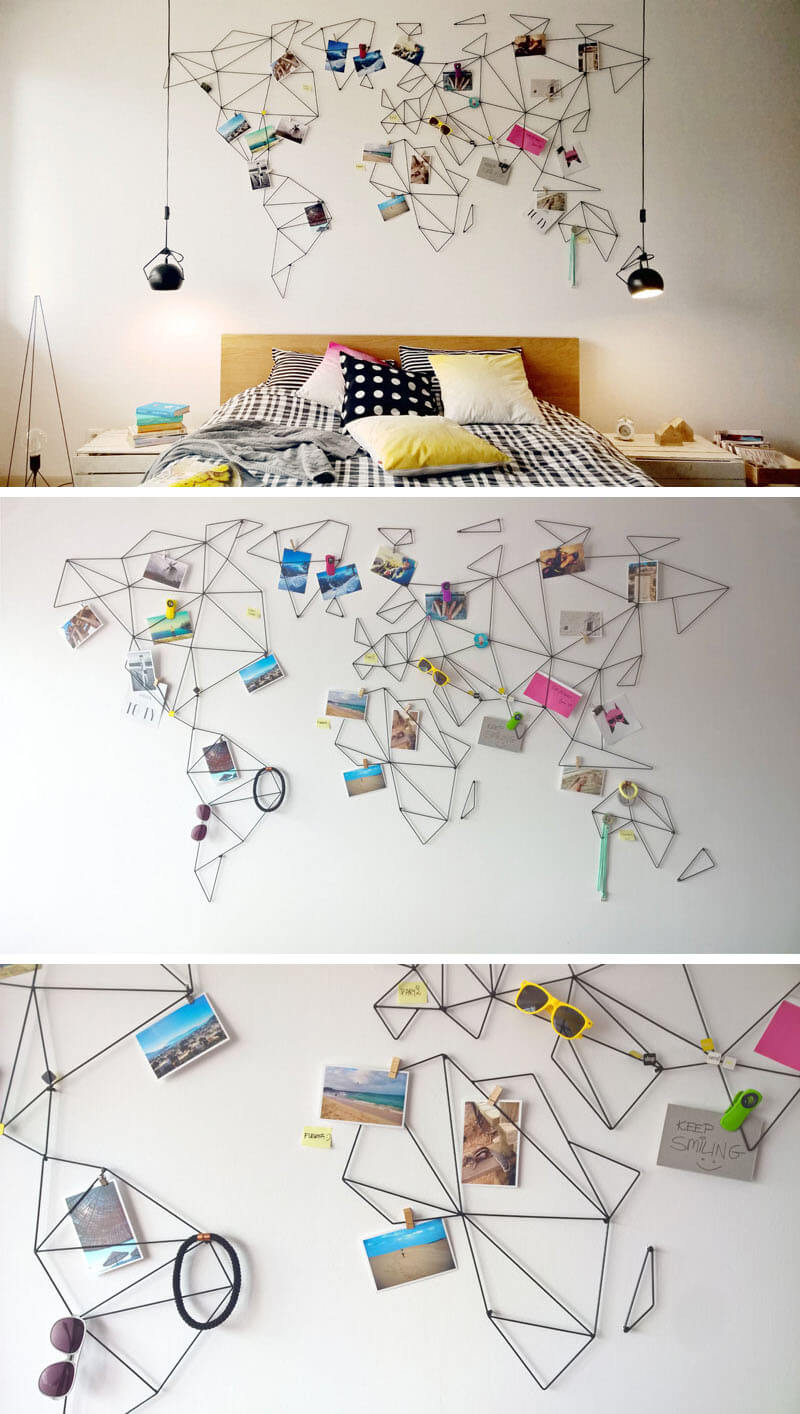 Cómo decorar una habitación con fotos y un mapa