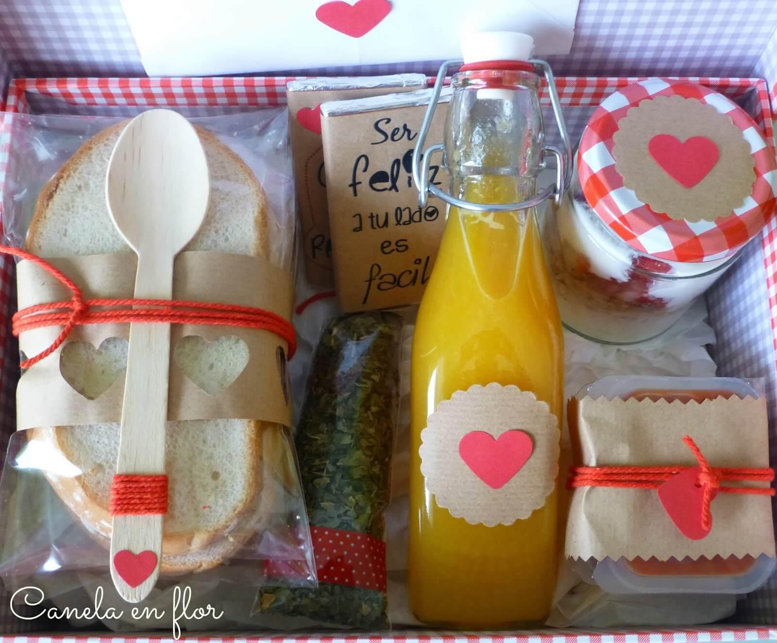 Regala una caja de desayuno por San Valentín