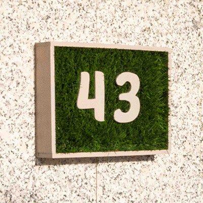 Número para la fachada de casa