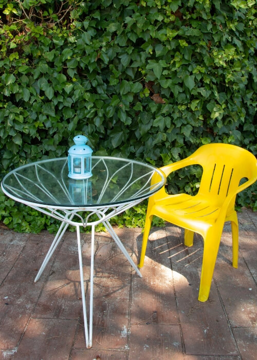 Pintar sillas de plástico resultado