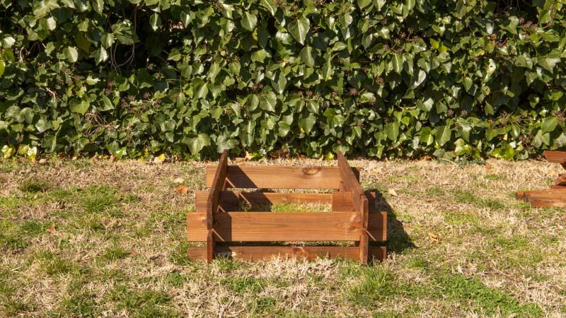 Montar estructura del compostador de madera
