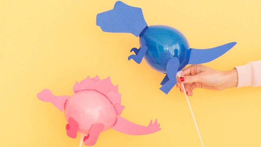Globos para cumpleaños de dinosaurios