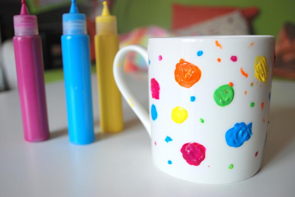 Taza decorada con pintura día del padre