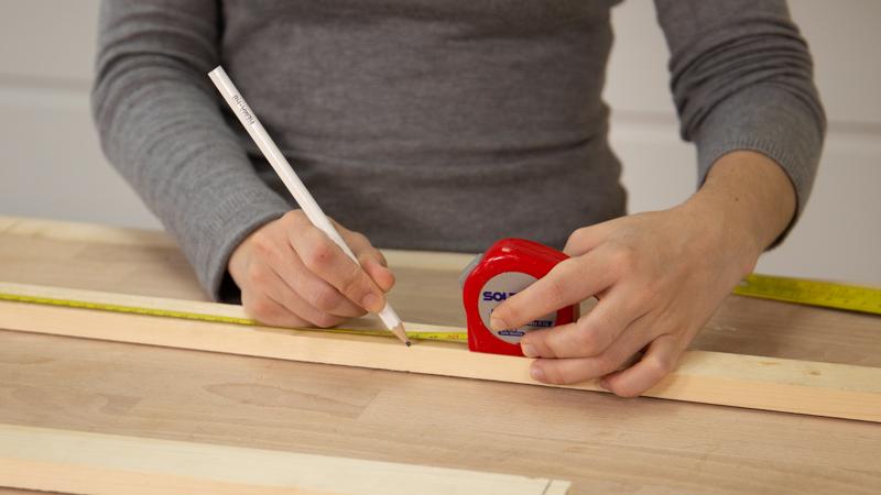 Marcamos con lápiz las piezas
