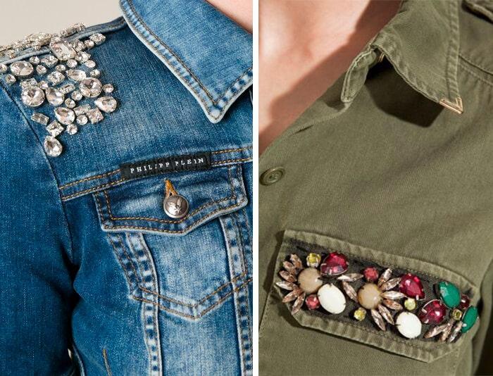 Manualidades con abalorios: bordado de camisas