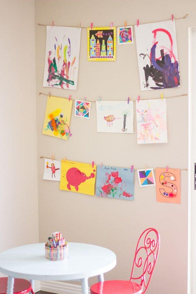 Decorar paredes de habitaciones infantiles con dibuijos