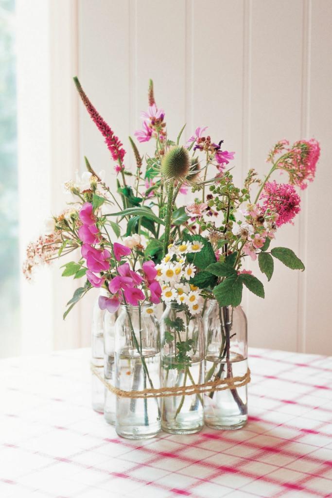 Centro de mesa ramo de flores