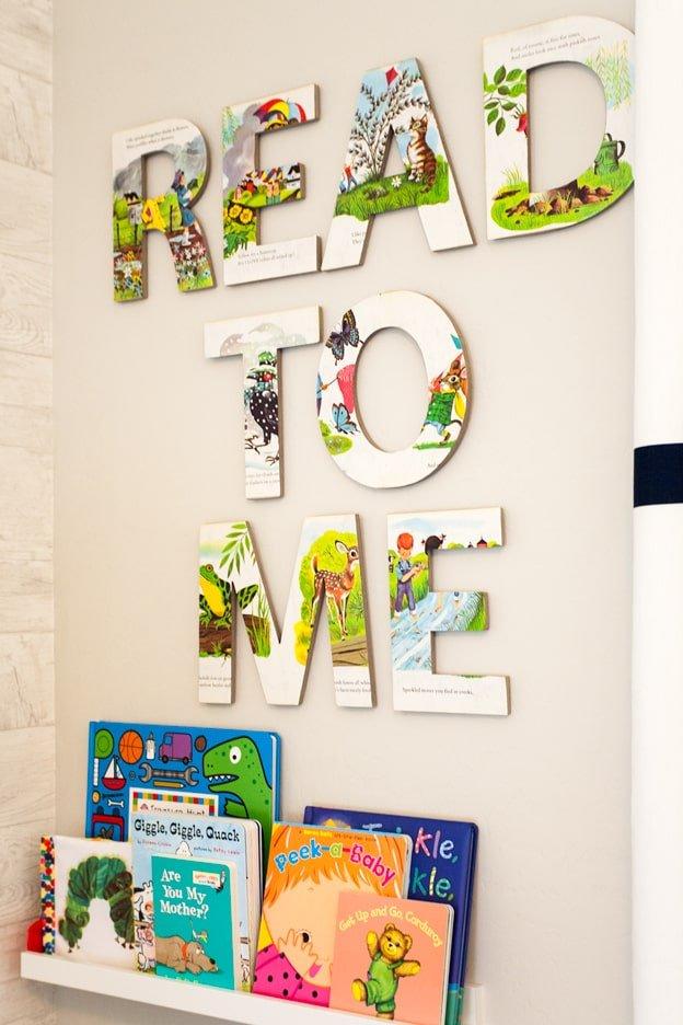 Letras decorativas para cuartos infantiles