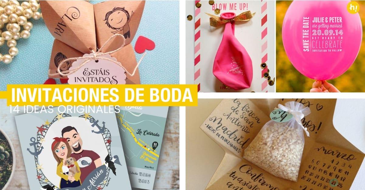 14 Ideas Para Invitaciones De Boda Que Sorprenderán A Tus Invitados Handfie Diy