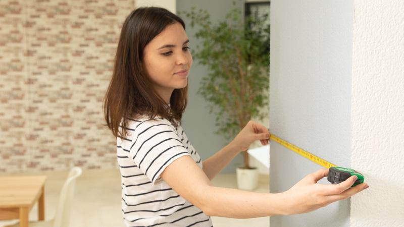 Medir superficie de la pared donde irá la celosía