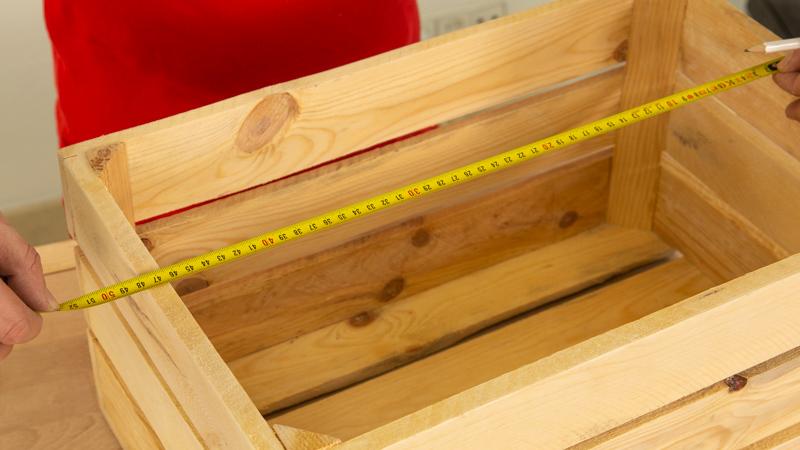 Medir ancho y largo de la caja