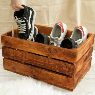 Cómo hacer un zapatero con una caja de fruta