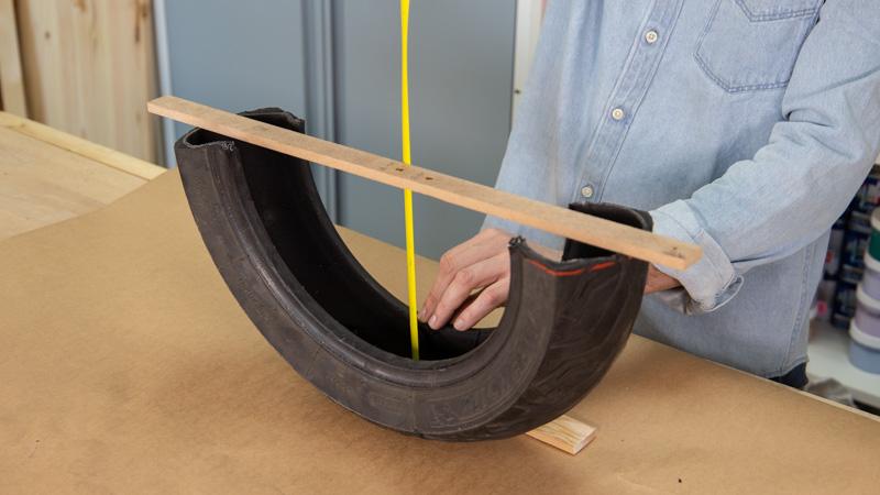 Medición de el hueco interno de la rueda para crear la estructura interna del balancín