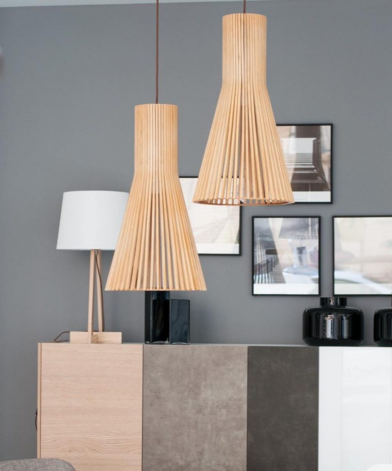 lámparas de corativas para el salón de fibras naturales