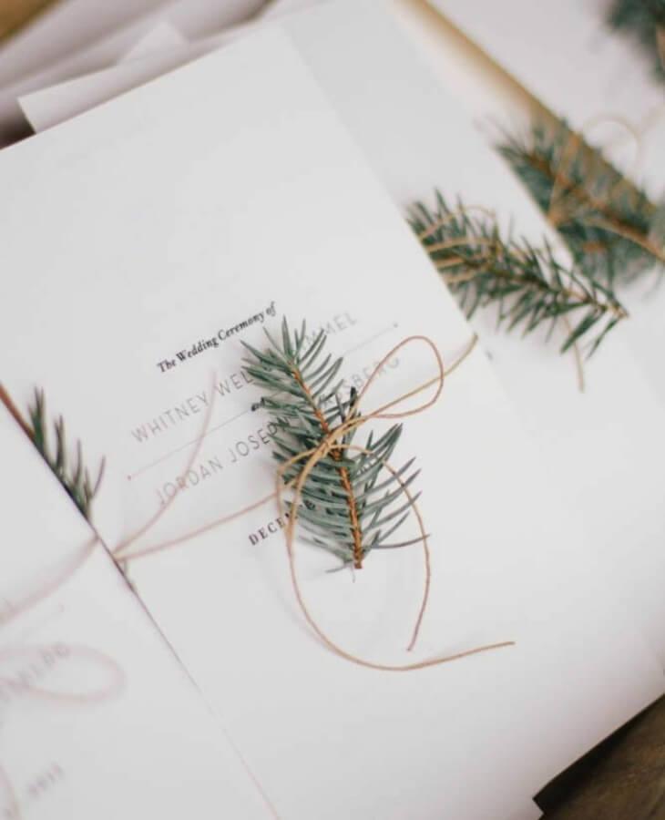 Invitación minimalista de boda