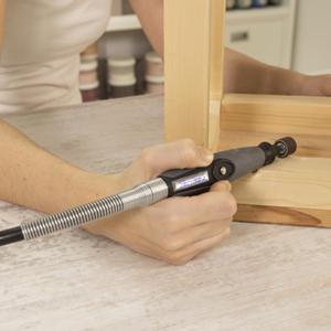 Eje flexible extensión para herramientas