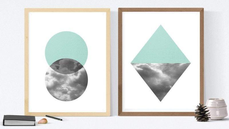 Lámina para enmarcar con formas geométricas