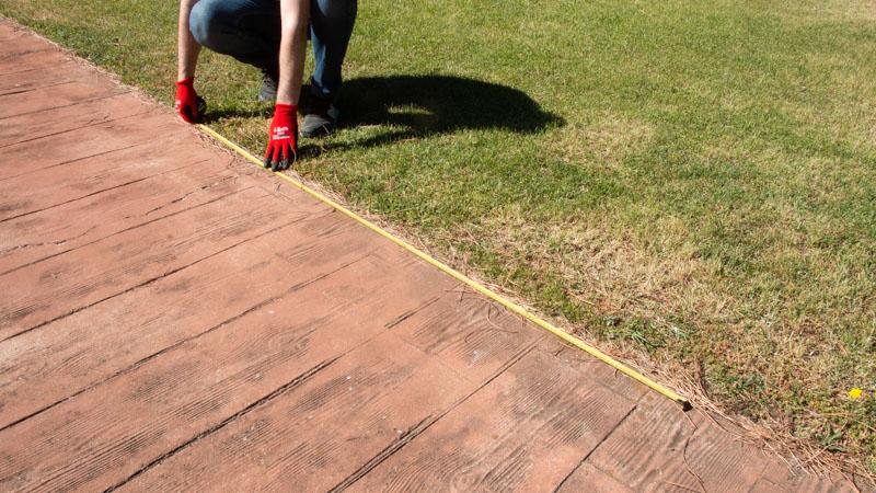 Medir la superficie donde irá la valla