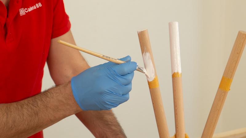 Pintar las patas de la lámpara nórdica