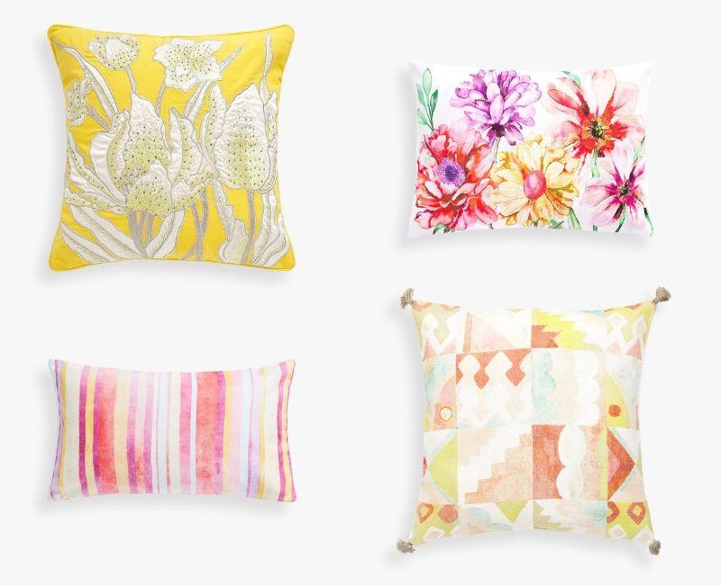 Los textiles más coloridos para la decoración del jardín.