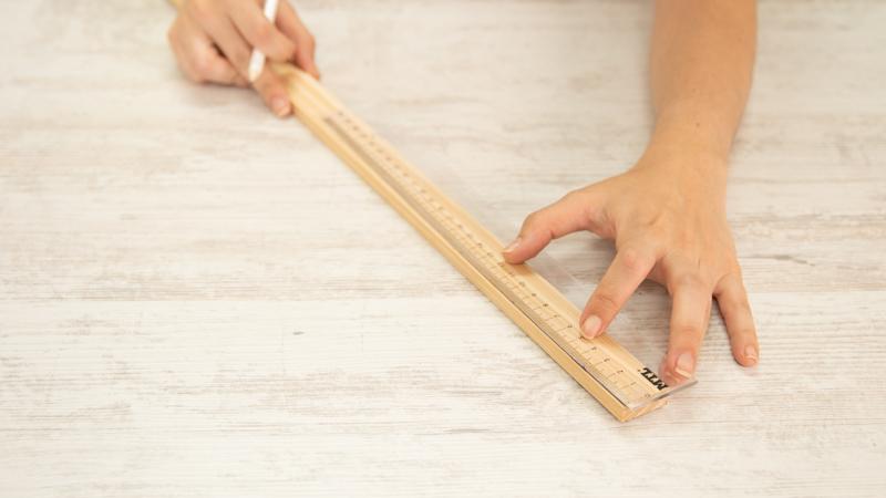 Listón de madera para hacer el llavero