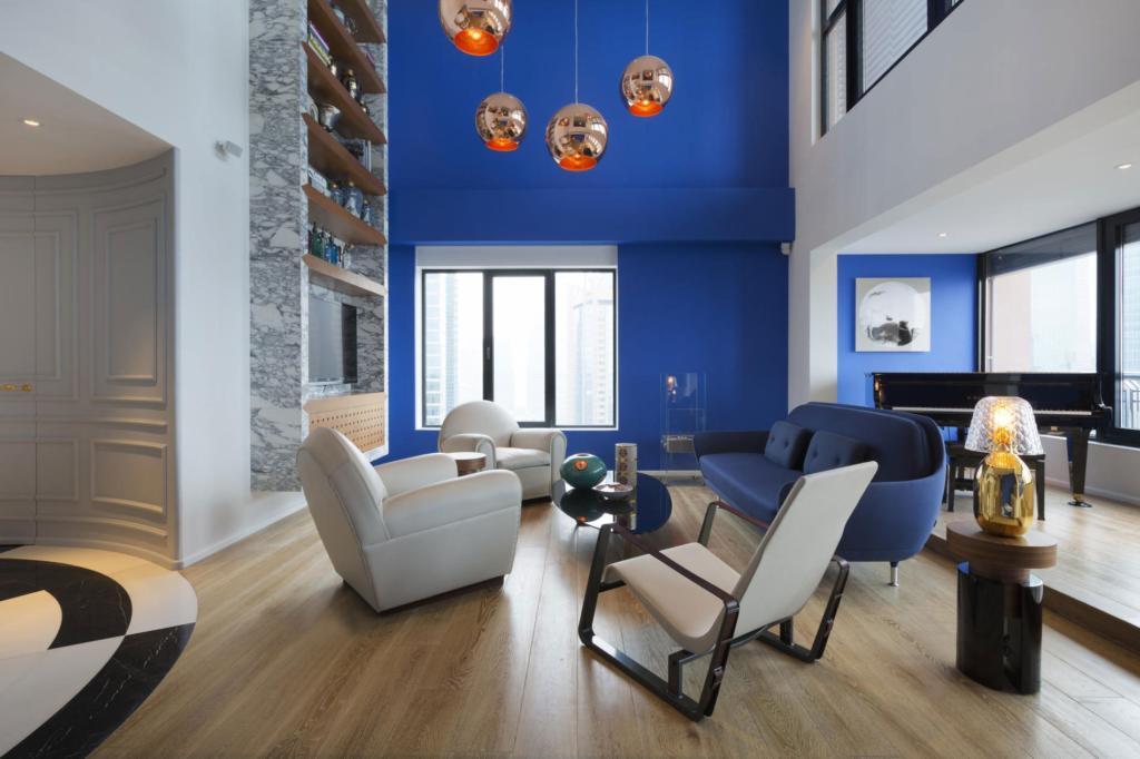 Naranja y azul colores complementarios