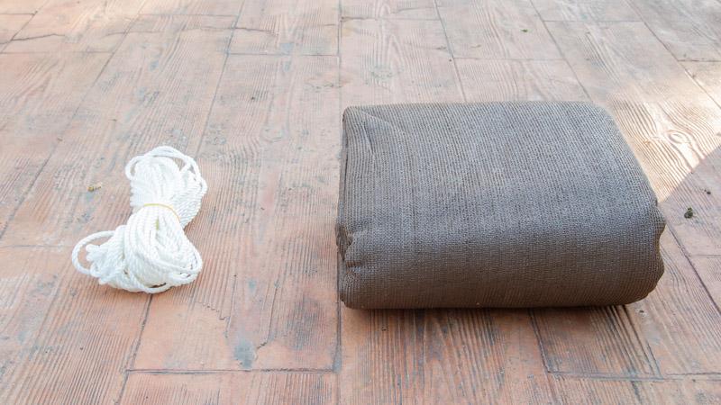 Malla sombreadora y cuerda