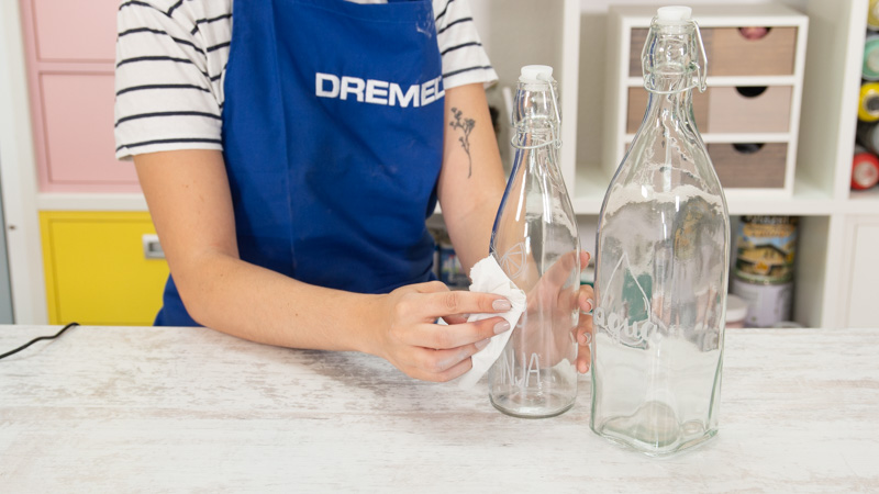Limpiar bien las botellas tras grabarlas