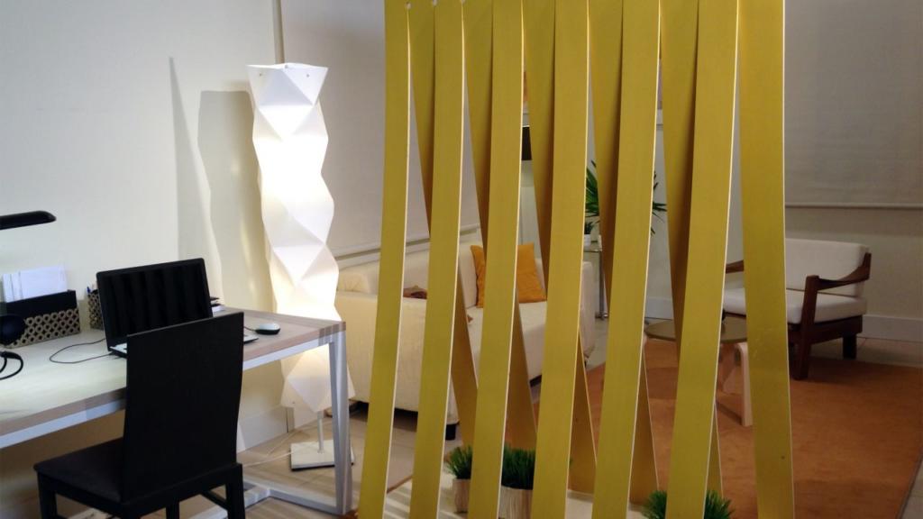 Biombo amarillo