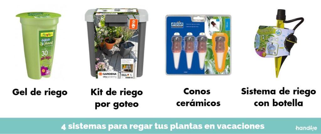 Sistemas para regar plantas de verano en vacaciones