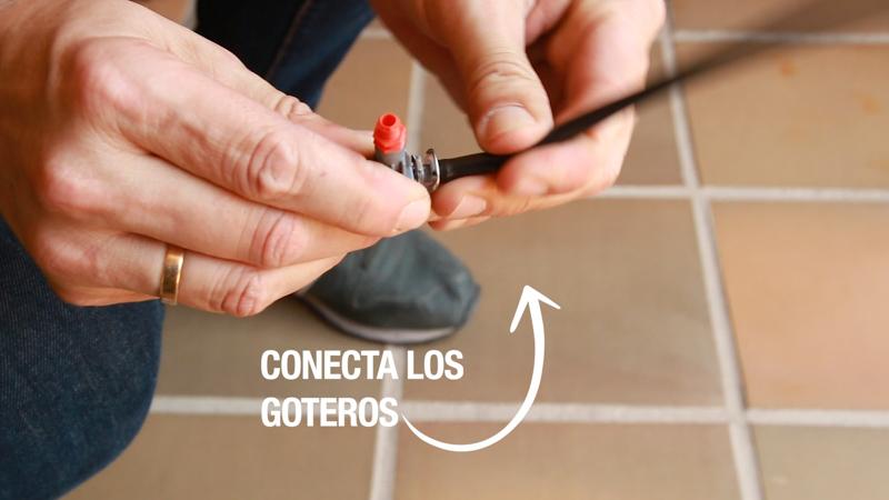 Conectar goteros