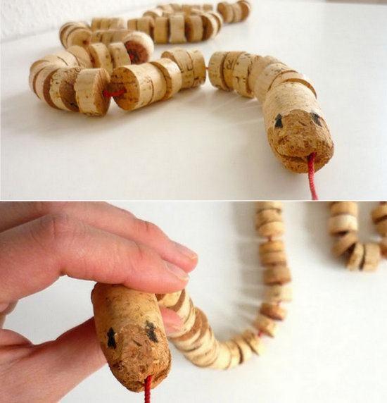 Serpiente de corcho