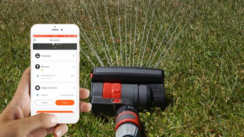 Control del riego automático con la app de Gardena