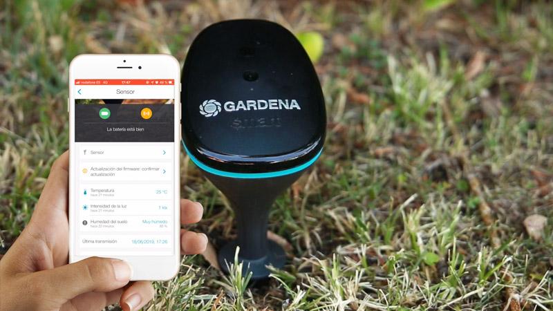 Mediciones del sensor de jardín vistas en la app