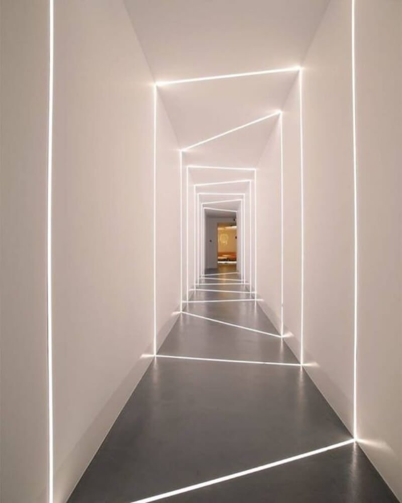 Decoración de pasillos con tiras led