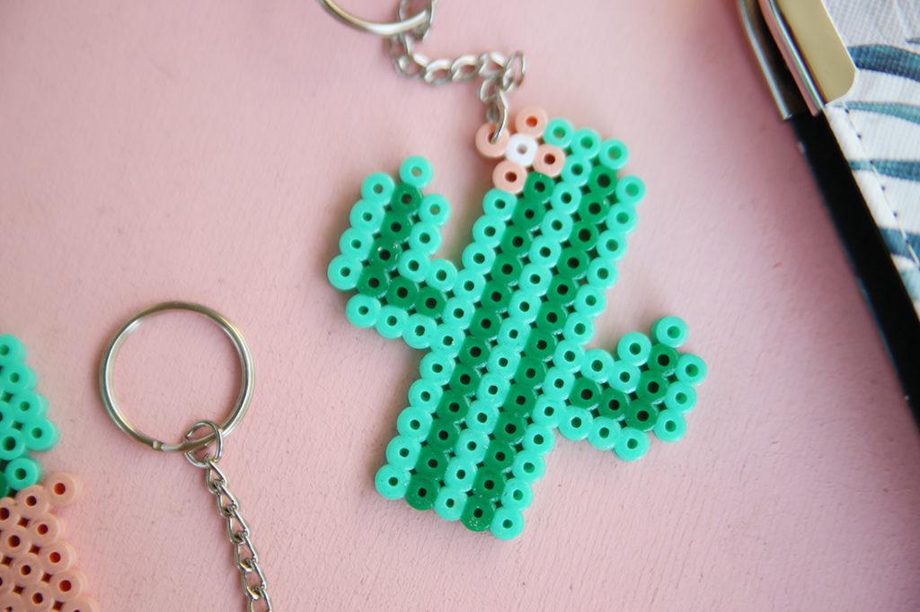 Llavero cactus con hama bead